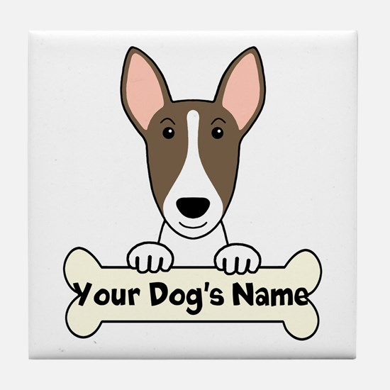 Personalized Bull Terrier Tile Coaster