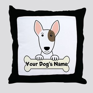 Personalized Bull Terrier Throw Pillow