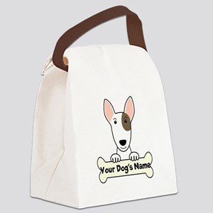 Personalized Bull Terrier Canvas Lunch Bag