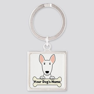 Personalized Bull Terrier Square Keychain