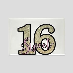 Golden Sweet 16 Magnets