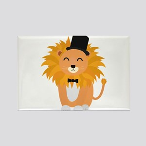 Lion with bow tie Magnets