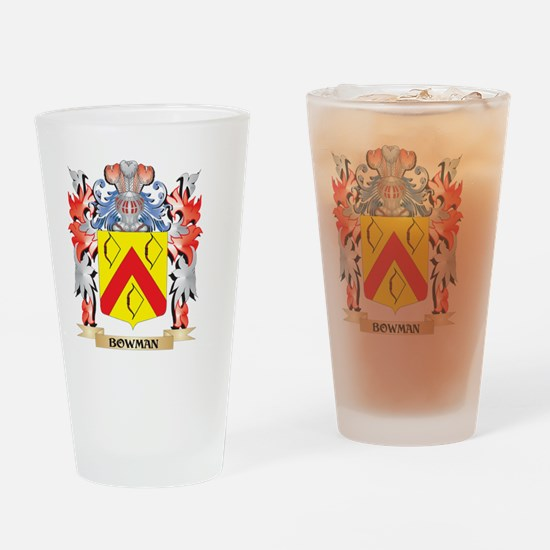 Bowman Coat of Arms - Family Crest Drinking Glass