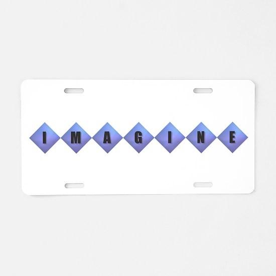 Imagine - Purple Diamonds Aluminum License Plate