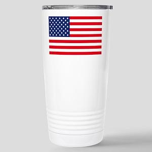 American Flag Stainless Steel Travel Mug