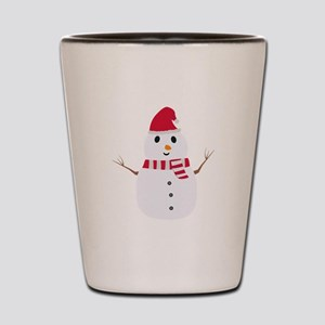 Chirstmas Snowman with winterscarf Shot Glass