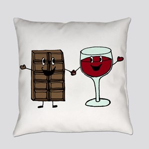 Chocolate and Wine Everyday Pillow