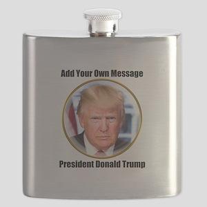 CUSTOM MESSAGE President Trump Flask