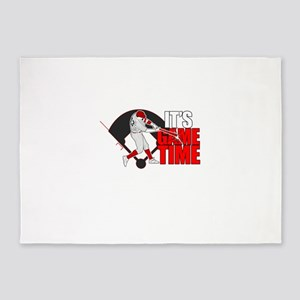 It's Game Time - Baseball (Red) 5'x7'Area Rug