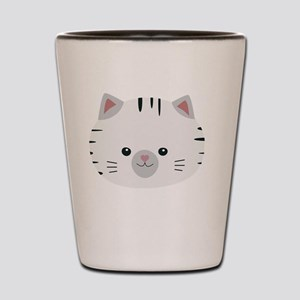 Black and White tiger cat Shot Glass
