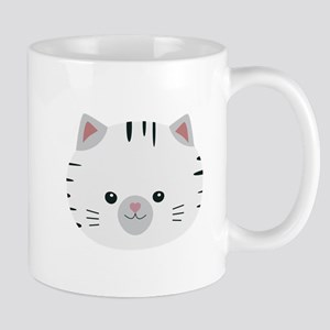Black and White tiger cat Mugs