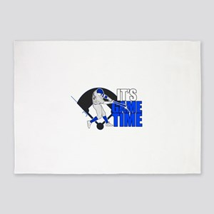 It's Game Time - Baseball (Blue) 5'x7'Area Rug