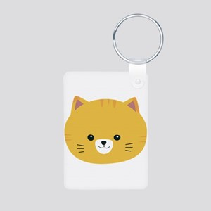 Cute tiger cat with yellow fur Keychains