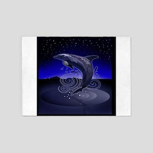 Dolphin - Night 5'x7'Area Rug