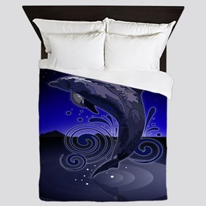 Dolphin - Night Queen Duvet