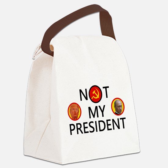 Putin Is Not My President Canvas Lunch Bag