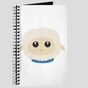 Cute little sheep with blue collar Journal