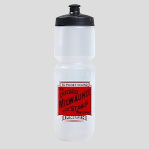 Milwaukee Road Puget Sound Railway d Sports Bottle