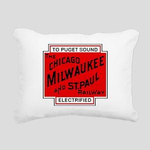 Milwaukee Road Puget Sou Rectangular Canvas Pillow