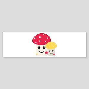 Cute colorful mushrooms Bumper Sticker