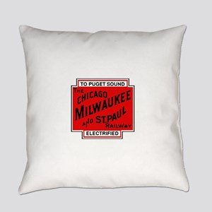 Milwaukee Road Puget Sound Railway Everyday Pillow