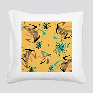 Mid Century Modern Pattern Square Canvas Pillow