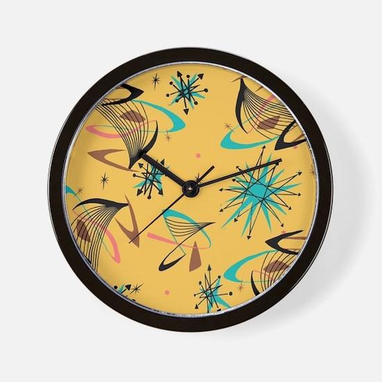 Mid Century Modern Pattern Wall Clock