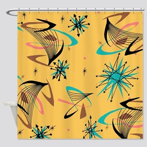Mid Century Modern Pattern Shower Curtain