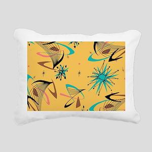 Mid Century Modern Patte Rectangular Canvas Pillow