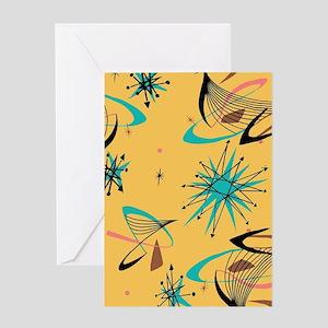 Mid Century Modern Pattern Greeting Cards