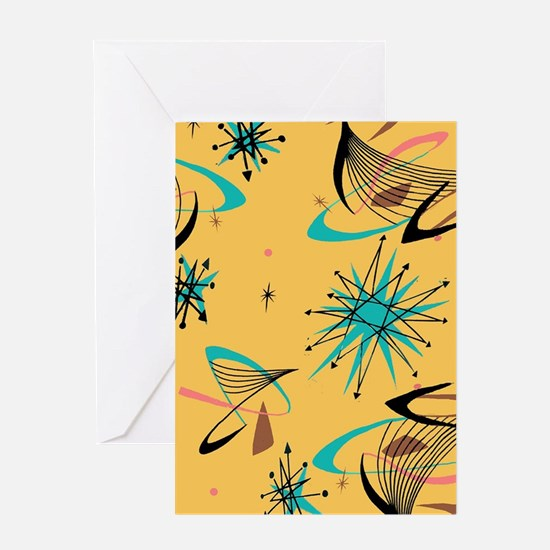 Mid Century Modern Pattern Greeting Cards