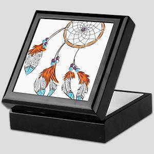 Modern watercolor boho dreamcatcher feathers Keeps