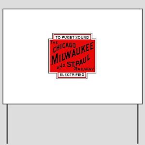 Milwaukee Road Puget Sound Railway desig Yard Sign