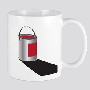 Paint Can Red Mugs