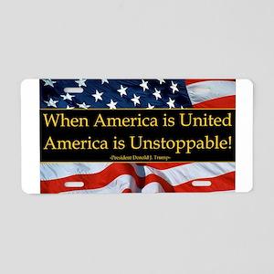 United America Quote Aluminum License Plate