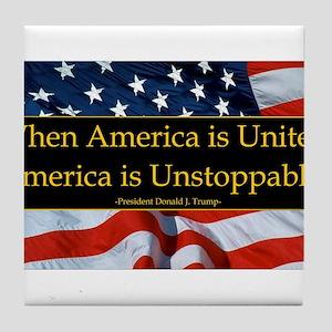 United America Quote Tile Coaster