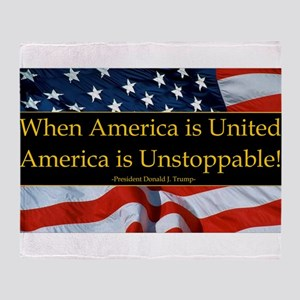 United America Quote Throw Blanket
