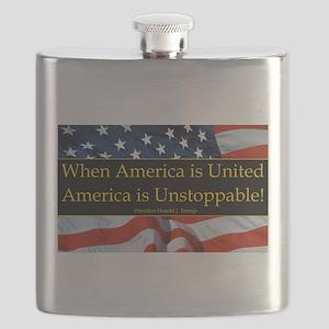 United America Quote Flask