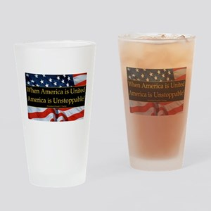 United America Quote Drinking Glass