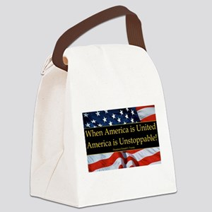 United America Quote Canvas Lunch Bag