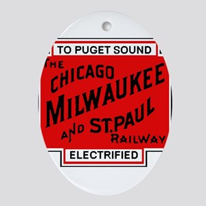 Milwaukee Road Puget Sound Railway d Oval Ornament