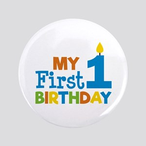 Boy's My First Birthday Button