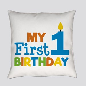 Boy's My First Birthday Everyday Pillow