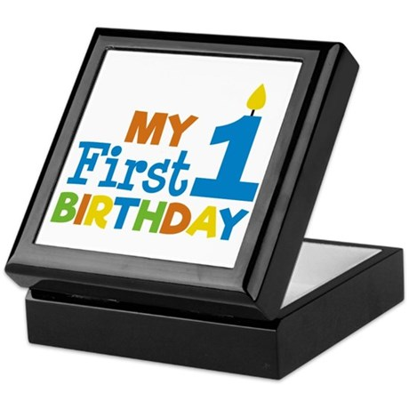 My First Birthday Jewelry Boxes CafePress