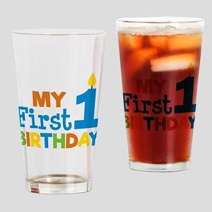 Boy's My First Birthday Drinking Glass