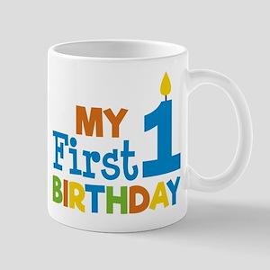 Boy's My First Birthday Mugs