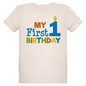 Boys First Birthday Organic Kids T Shirts