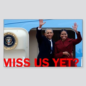 Obamas: Miss us yet? Sticker