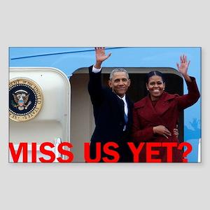 Obamas: Miss us yet? Sticker
