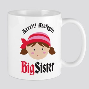 PirateBigSisterBrown Mugs